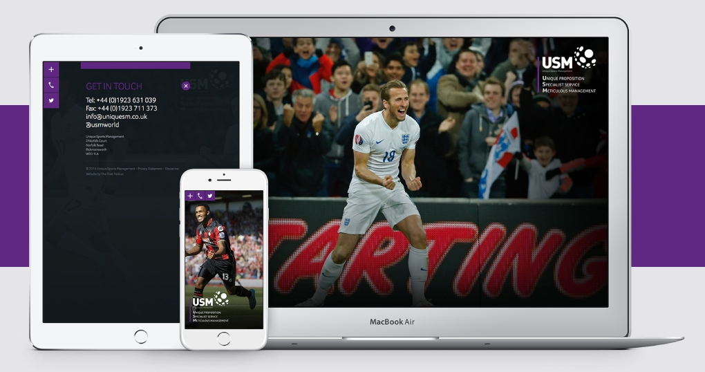 Football agency responsive website design