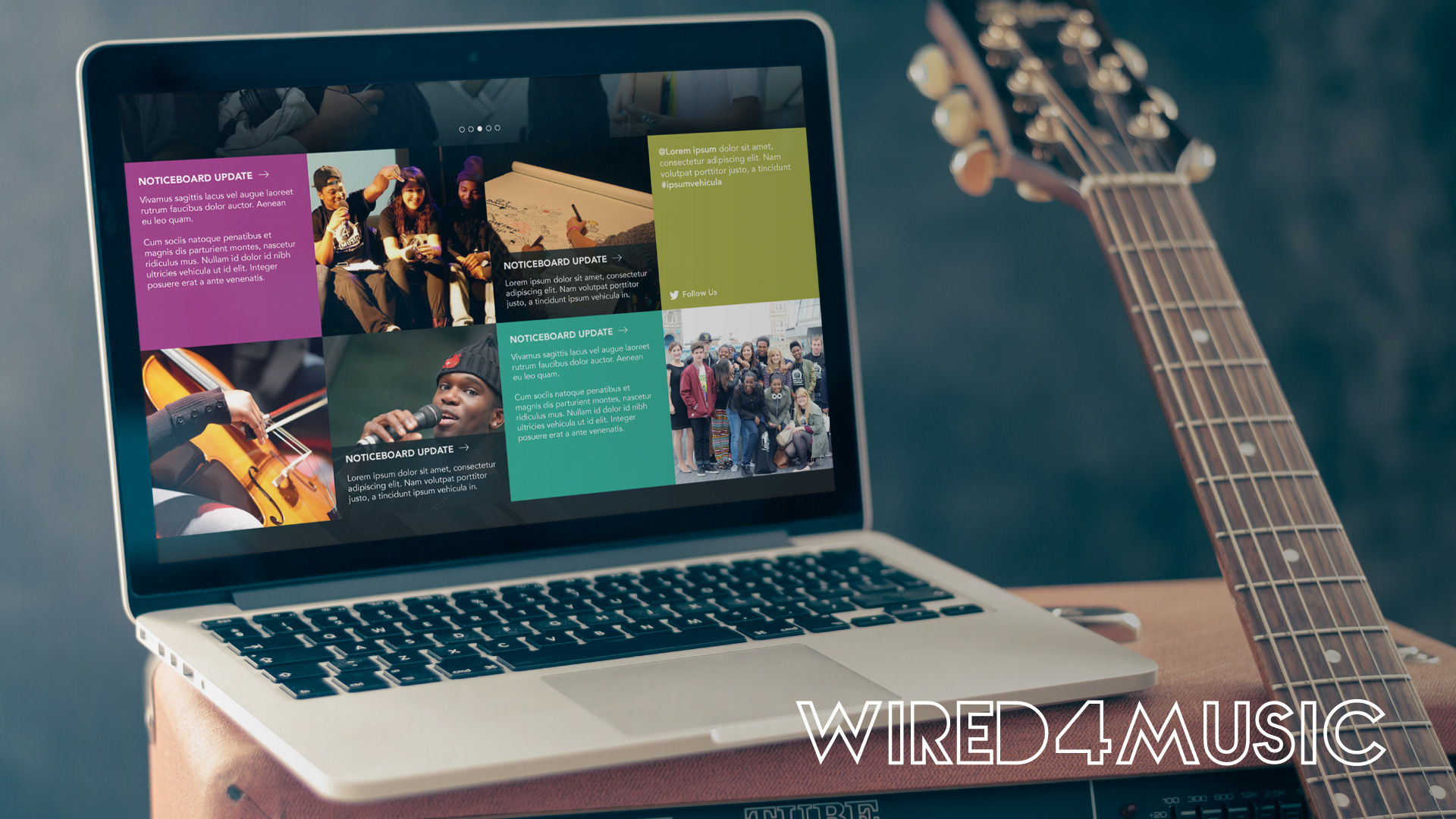 London music community website design