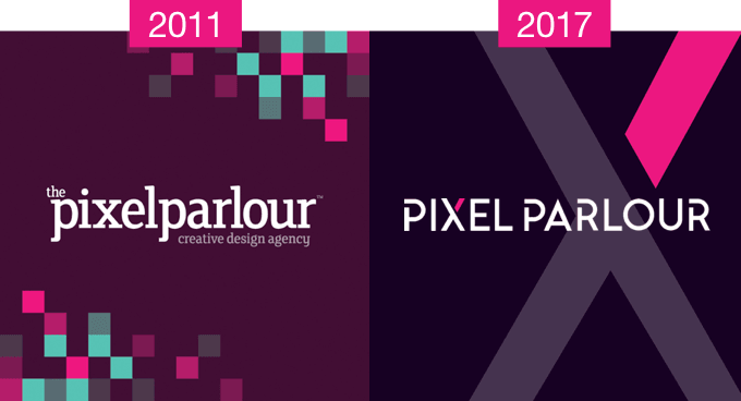 The evolution of the Pixel Parlour brand identity