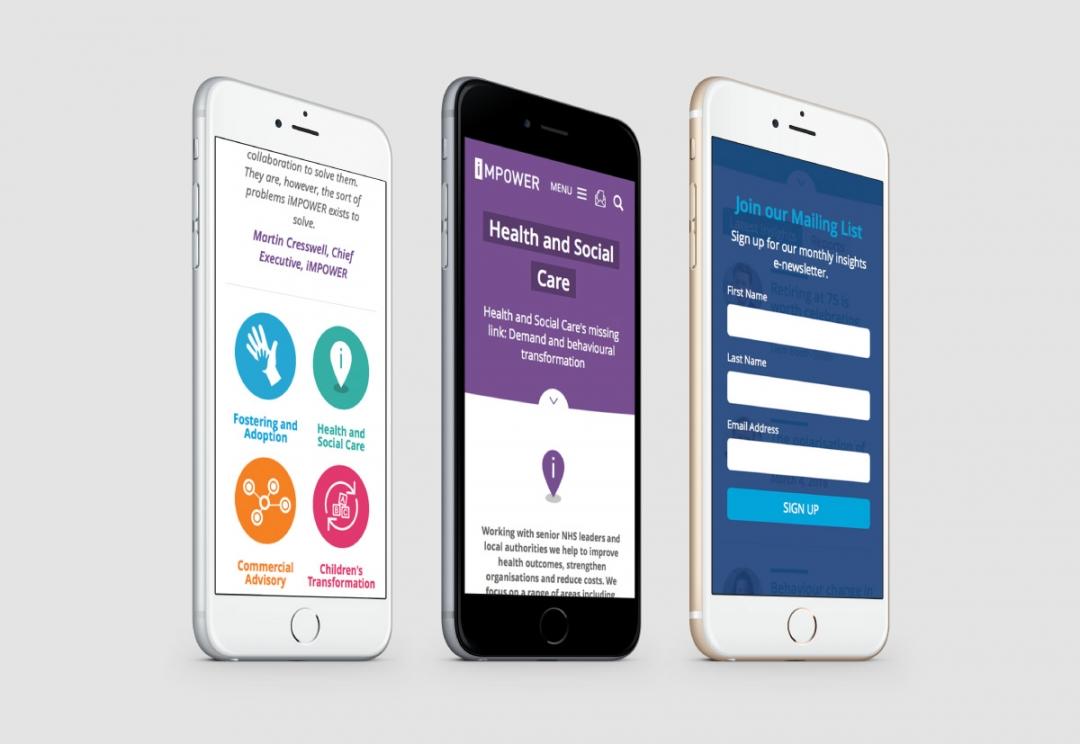 Public sector consultancy responsive website design