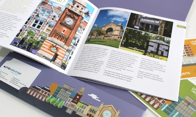Print design work - estate agents brochure