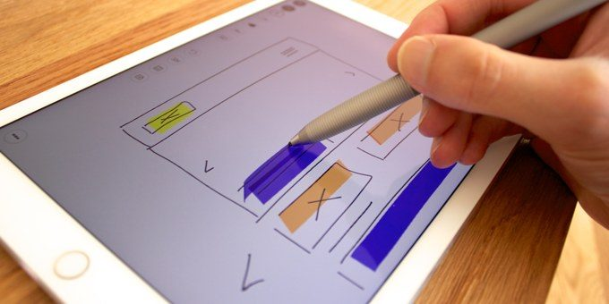Stylus wireframing on iPad