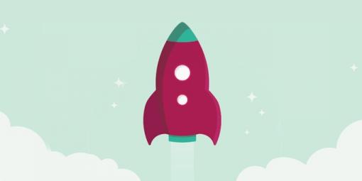 Website launch rocket